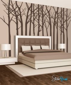 Large Vinyl Tree Wall Decal | Vinyl Wall Decal Sticker Large Bare Tree Mcrespo116s