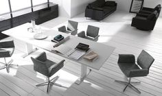 Discover all the information about the product Boardroom table / contemporary / lacquered metal / rectangular CUBE GAP - interlübke and find where you can buy it.