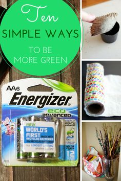 10 simple, everyday changes that you and your family can make that could have a large impact on your environmental impact. How to be a little more green. #ad #BringingInnovation #cbias