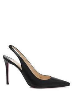 Christian Louboutin | Pre-owned Christian Louboutin Leather Slingback Pumps