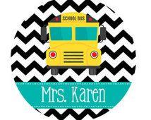 Personalized School Bus Driver Mouse Pad, Bus Driver Gift, Personalized Teacher Gift, Personalized Teacher Mouse Pad