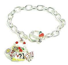 Casino Charm Bracelet BH Slots Cherries Dice Chips Silver Tone Recyclebabe Bracelet http://www.amazon.com/dp/B00KYS28LC/ref=cm_sw_r_pi_dp_BTXMtb0NBWAJJXXD
