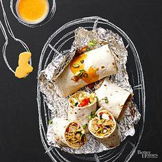 Pad Thai Chicken Burritos by bhg #Burritos #Chicken #Pad_Thai