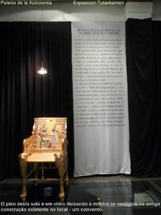 Palacio de la Autonomia  -  Exposicion Tutankamon - cidade do México Foto : Cida Werneck