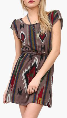 Winter Aztec Dress