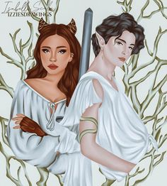 """isabella ❅✹ (@izziesdrawings) posted on Instagram: """"jude and cardan 🤍🗡 [reposts w/ credit, reshares on stories and saving the post are appreciated!]"""" • Jun 16, 2021 at 9:44pm UTC"""