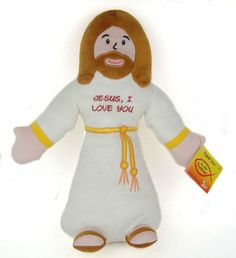 Jesus Stuffed toy for kids. I'll bet I could make something like this for the PS room