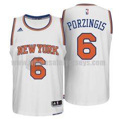 ceb12d07d Men s New York Knicks  6 Kristaps Porzingis White Stitched Home NBA Jersey  Air Jordan
