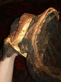 Original 1850-1860's Womens Drawn Silk Bonnet Antique Civil War Mid 19th Century | eBay