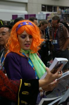 Mystery solved: it's #Daphne! #SDCC #ScoobyDoo #cosplay