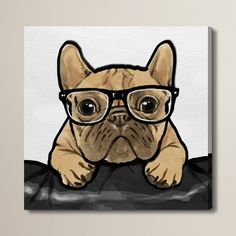 Found it at Joss & Main - 'Nerdy Frenchman' Painting Print on Wrapped Canvas