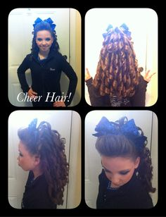 I am a cheerleader, so I love looking at different ideas for 'cheer hair' (:
