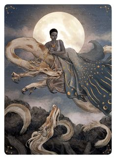 """"""" Tarot - The Moon by bluefooted """""""
