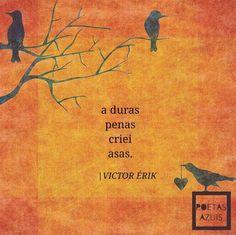 A duras penas criei asas. - Victor Érik