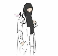 Hijab is not a shackle for you. Anime Muslim, Muslim Hijab, Muslim Pictures, Medical Wallpaper, Hijab Drawing, Nurse Art, Islamic Cartoon, Girly M, Hijab Cartoon