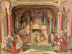 Paper Theater with a Georgian Era scene.