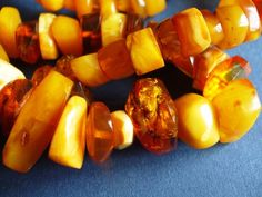 Natural Baltic Amber 96 gr Yolk Yellow Orange white Necklace charm medicine jewelry 琥珀 polished #handmade