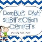 There are 7 centers for learning double digit subtraction, plus one poster to hang near your targets or instruction. This is to be used in differen. Teaching Subtraction, Teaching Math, Math Classroom, Classroom Activities, Classroom Ideas, 2nd Grade Math, Grade 2, Second Grade, Learning Centers