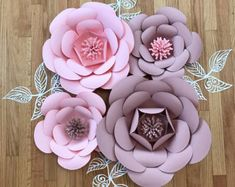 8pc Nursery decor home decor Paper Flowers by ShopOliposa on Etsy