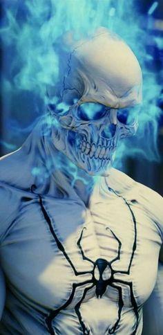 Ghost Rider Wallpaper, Graffiti Wallpaper, Skull Wallpaper, Gas Mask Art, Masks Art, Badass Skulls, Black Panther Art, Ghost Rider Marvel, Street Art