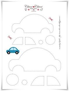 Free printable Car Template (for quiet book) Bird Template, Applique Templates, Applique Patterns, Applique Designs, Embroidery Applique, Sewing Patterns, Felt Templates, Crown Template, Printable Templates