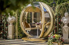Buy Farmer's Cottage Rotating Seated Garden Pod from our Garden Pods & Buildings range at John Lewis & Partners. Garden Patio Sets, Circle Bed, Garden Pods, Adjustable Height Table, Tent Poles, Wood Vinyl, Architectural Features, Wood Laminate, Outdoor Rooms