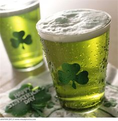 Really love the tinting on this green beer for St. Patrick's Day! #stpatricksday