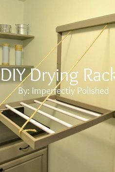 Or, you can build your drying rack from scratch. | 29 Incredibly Clever Laundry Room Organization Ideas