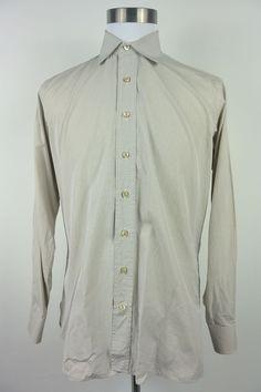 Seize Our Vingt 16.5 35 Blue Yellow Checkered Cotton Italy Dress Shirt #493 #SeizeOurVingt