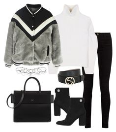 """Untitled #3649"" by theeuropeancloset on Polyvore featuring Gucci, Victoria Beckham, Gianvito Rossi, Givenchy and MANIAMANIA"