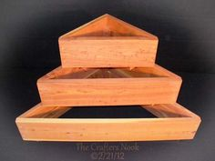 triangular tiered wood planter boxes | Stackable Cedar Raised Planter 2x1 5 Tiered Flower Bed Vegetable ...