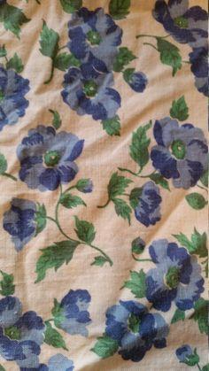 1930's Feed Sack / Flour Sack Fabric  Blue & by Sewlovetextiles
