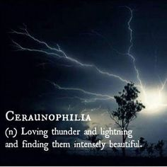 Ceraunophilia (n.) loving thunder and lightning and finding them intensely beautiful. — thinking about you beautiful as I hear the thunder rumbling in the distance. The Words, Fancy Words, Weird Words, Pretty Words, Beautiful Words, Cool Words, New Words With Meaning, Dark Words, Unusual Words