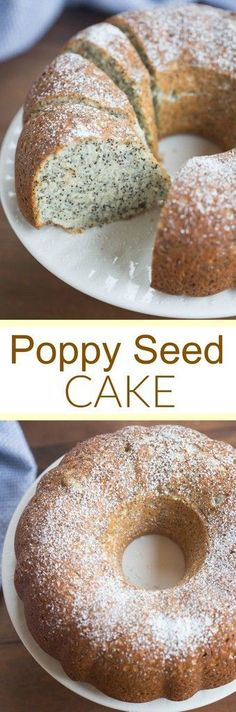 Incredibly light and tender homemade Poppy Seed Cake, perfect for brunch or dessert! | tastesbetterfromscratch.com