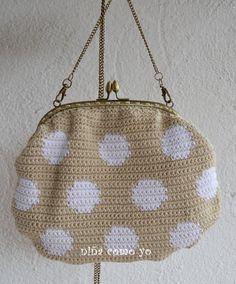 bolso de ganchillo con boquilla, crochet bag