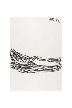 YOSEF JOSEPH DADOUNE Table IV, 3/5 6.6.14 29 X 42 CM  Oil pastel on paper Photographer: Aurelien Mole