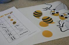 bee dice game for family fun night