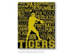 Football Typography Art Print Perfect Boy's Room by twenty3stars, $10.00
