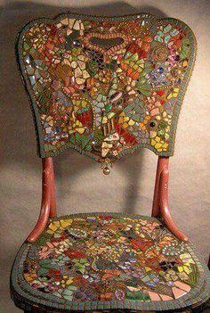 Mosaiek stoel