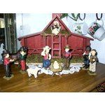 western nativity sets | eBay Image 1 NEW 11pc. Western Nativity with Stable