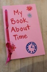 Kindergarten Building Sentences Activities: Time Book About the Day