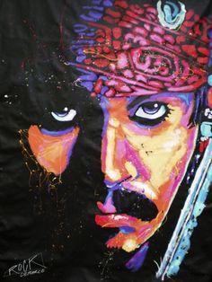 Jack Sparrow - Rock Demarco | Crie seu quadro com essa imagem https://www.onthewall.com.br/personalidades/jack-sparrow  #quadro #decoracao #decoração #canvas #moldura