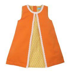 Little Bird by Jools Orange Lace Dress