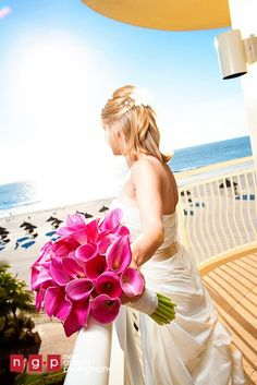 Pink Miniature Calla Lily bouquet. Designed by China Rose Florist, Marco Island, Fl.