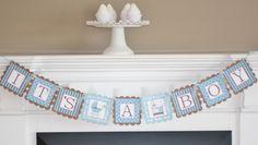 """""""Its a Boy"""" Baby Shower Boy Banner"""