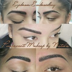 Eyebrow Embroidery! Love this shape!!!