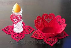 machine embroidery projects | ... our freestanding lace bowl and doily machine embroidery projects