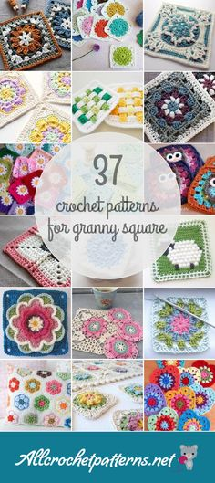 Crochet Squares Granny Design 37 Granny Square Crochet Patterns - Page 4 - Crochet Squares, Grannies Crochet, Crochet Blocks, Granny Square Crochet Pattern, Crochet Motif, Crochet Designs, Crochet Patterns, Granny Squares, Granny Granny