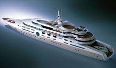 The future mega-yacht Eclipse