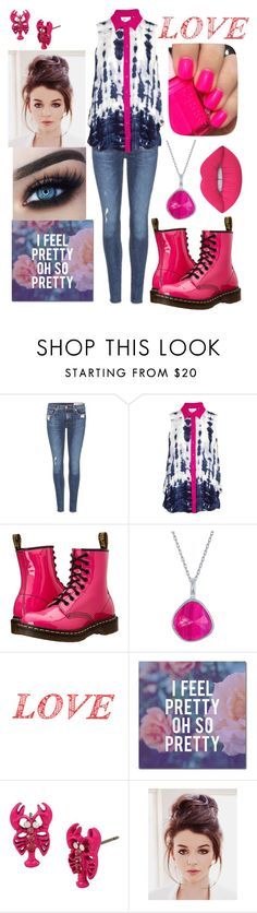 """PINK, BLUE, & WHITE"" by rngriffis02 ❤ liked on Polyvore featuring rag & bone, Parker, Dr. Martens, WALL, Trademark Fine Art, Betsey Johnson, Essie and Lime Crime"